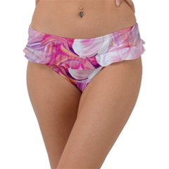 Pink Paint Brush Frill Bikini Bottom
