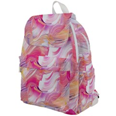 Pink Paint Brush Top Flap Backpack