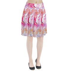 Pink Paint Brush Pleated Skirt