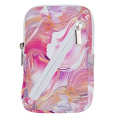 Pink Paint Brush Belt Pouch Bag (large)