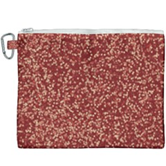 Burgundy Red Confetti Pattern Abstract Art Canvas Cosmetic Bag (xxxl)