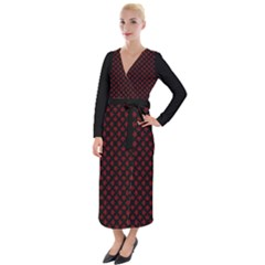 Cool Canada Dresses Retro Velvet Maxi Wrap Dress by CanadaSouvenirs