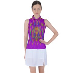 Festive Rainbow, Season To Wear Popart Women s Sleeveless Polo Tee