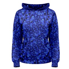 Blue Fancy Ornate Print Pattern Women s Pullover Hoodie by dflcprintsclothing