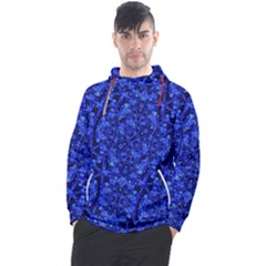 Blue Fancy Ornate Print Pattern Men s Pullover Hoodie
