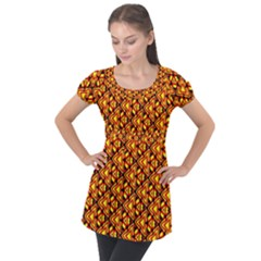 Rby 94 Puff Sleeve Tunic Top by ArtworkByPatrick