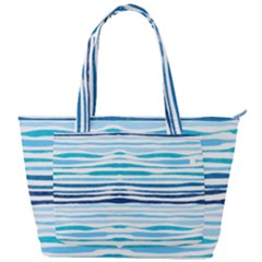 Blue Waves Pattern Back Pocket Shoulder Bag