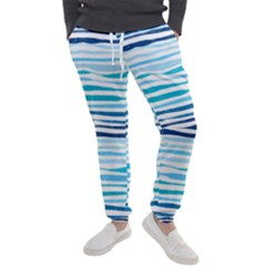 Blue Waves Pattern Men s Jogger Sweatpants