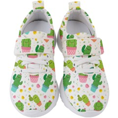 Cactus Pattern Kids  Velcro Strap Shoes