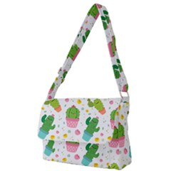 Cactus Pattern Full Print Messenger Bag (l) by designsbymallika
