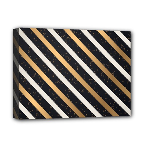 Metallic Stripes Pattern Deluxe Canvas 16  X 12  (stretched)  by designsbymallika