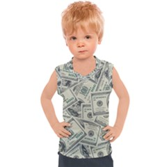 100 Dollar Bills Kids  Sport Tank Top