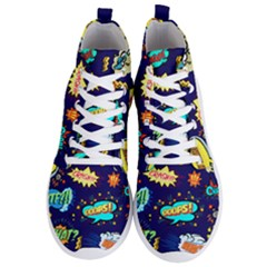 Bada Boom Pattern Men s Lightweight High Top Sneakers