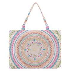 Mandala Pattern Zipper Medium Tote Bag by designsbymallika