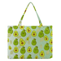 Avocado Love Zipper Medium Tote Bag by designsbymallika