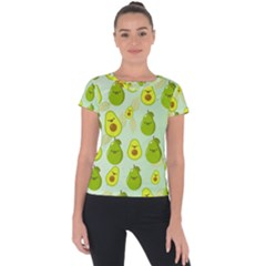 Avocado Love Short Sleeve Sports Top  by designsbymallika