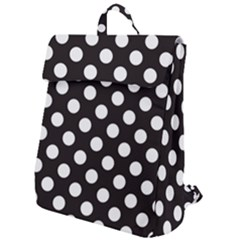 Black With White Polka Dots Flap Top Backpack by mccallacoulture