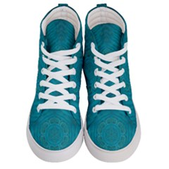 Spiritual Sun Is Raising Over The Peace Of Mind Sea Women s Hi Top Skate Sneakers
