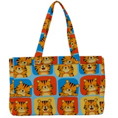 Cute Tiger Pattern Canvas Work Bag