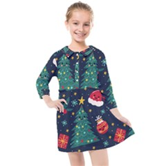Christmas  Kids  Quarter Sleeve Shirt Dress