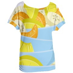 Salad Fruit Mixed Bowl Stacked Women s Oversized Tee