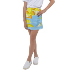 Salad Fruit Mixed Bowl Stacked Kids  Tennis Skirt by HermanTelo