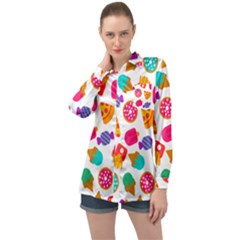 Candies Are Love Long Sleeve Satin Shirt