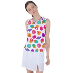 Candies Are Love Women s Sleeveless Sports Top by designsbymallika