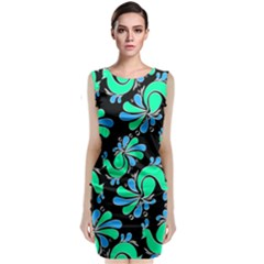 Peacock Pattern Classic Sleeveless Midi Dress by designsbymallika