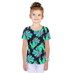 Peacock Pattern Kids  One Piece Tee by designsbymallika