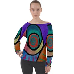 Colorful Abstract Art Off The Shoulder Top