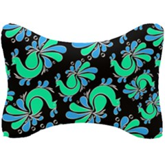 Peacock Pattern Seat Head Rest Cushion