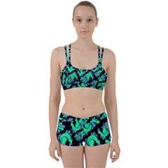 Peacock Pattern Perfect Fit Gym Set by designsbymallika