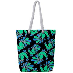 Peacock Pattern Full Print Rope Handle Tote (small)