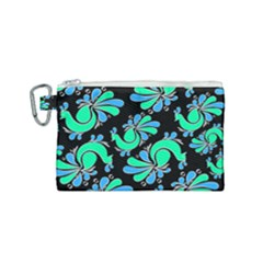 Peacock Pattern Canvas Cosmetic Bag (small)