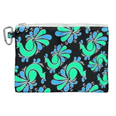 Peacock Pattern Canvas Cosmetic Bag (xl)