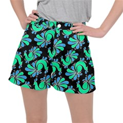 Peacock Pattern Ripstop Shorts