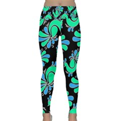 Peacock Pattern Lightweight Velour Classic Yoga Leggings
