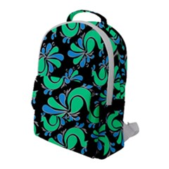 Peacock Pattern Flap Pocket Backpack (large)