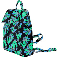 Peacock Pattern Buckle Everyday Backpack