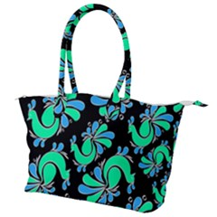 Peacock Pattern Canvas Shoulder Bag by designsbymallika