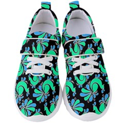 Peacock Pattern Women s Velcro Strap Shoes