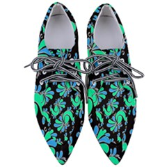 Peacock Pattern Women s Pointed Oxford Shoes
