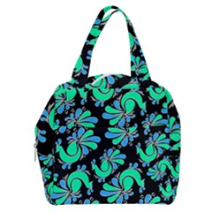 Peacock Pattern Boxy Hand Bag