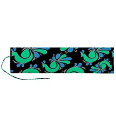 Peacock Pattern Roll Up Canvas Pencil Holder (l)