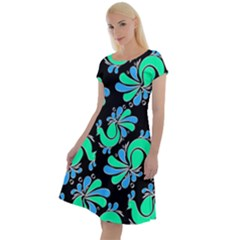 Peacock Pattern Classic Short Sleeve Dress