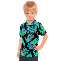 Peacock Pattern Kids  Polo Tee