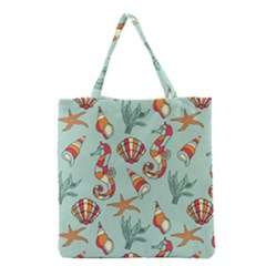 Coral Love Grocery Tote Bag