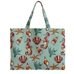 Coral Love Zipper Mini Tote Bag
