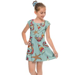 Coral Love Kids  Cap Sleeve Dress